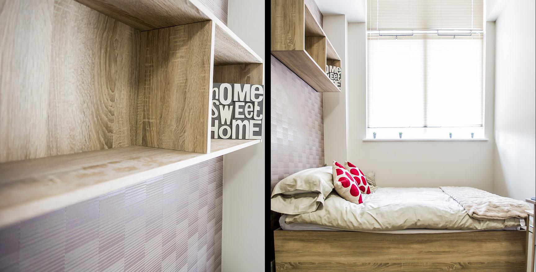 Alexandra House - Luxury Student Accommodation Sheffield (internal view of studio)